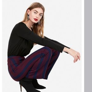 Express High Waisted Stripe Trousers Pants
